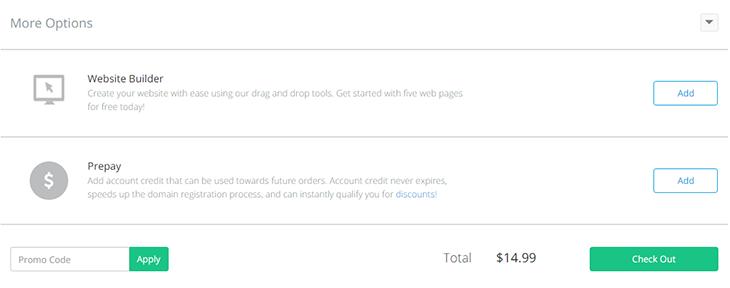 Step 2 checkout Domain Dynadot